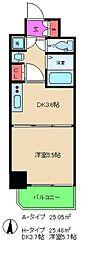 レジュールアッシュ梅田レジデンス[8階]の間取り