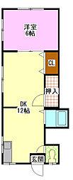 サンコーポ蘇我[2階]の間取り