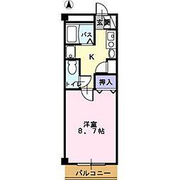 岡山県総社市駅前1丁目の賃貸マンションの間取り