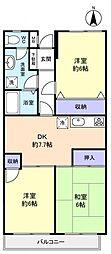 アドリーム幕張本郷吉野[4階]の間取り