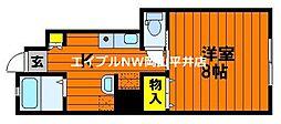 岡山電気軌道東山本線 東山・おかでんミュージアム駅駅 徒歩36分の賃貸アパート 1階1Kの間取り