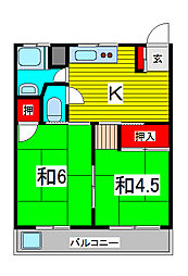 第一末広マンション[3階]の間取り