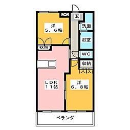 サンライトクロス[2階]の間取り