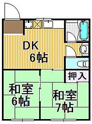 玉保マンション[3階]の間取り