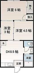 堀江アパート[1階]の間取り