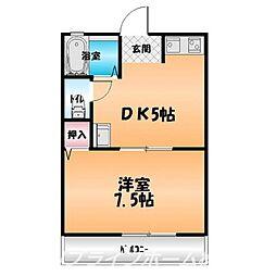 愛日ハイツ中島田A[1階]の間取り