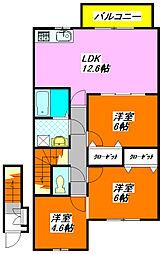 ジェイド・エフ・エイ 201号室[2階]の間取り