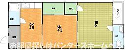 大阪府枚方市養父丘1丁目の賃貸マンションの間取り
