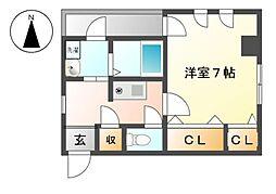 ジュネス上飯田[2階]の間取り