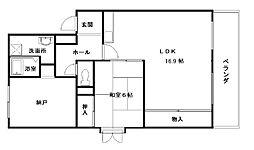 コンテッサ堀[305号室]の間取り
