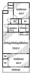 グランデュール千葉寺[3階]の間取り