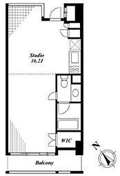 東京メトロ銀座線 溜池山王駅 徒歩2分の賃貸マンション 4階ワンルームの間取り