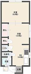 檜荘[122号室]の間取り