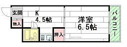 COA外院[4階]の間取り