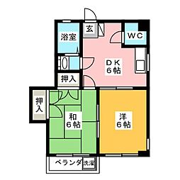 田宮コーポラス[3階]の間取り