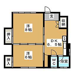 セゾンSII[1階]の間取り