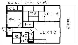 ディアコート藤井寺[102号室号室]の間取り