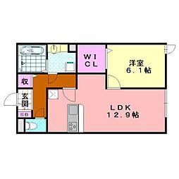 D-room加美正覚寺1丁目[101号室]の間取り