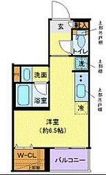JR京浜東北・根岸線 大井町駅 徒歩13分の賃貸マンション 2階ワンルームの間取り