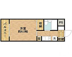 モナークマンション武蔵新城第2[515号室]の間取り
