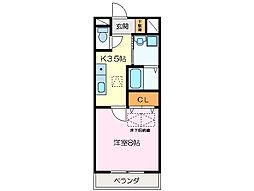 ルネスクレール[1階]の間取り