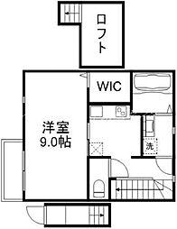 岡山電気軌道清輝橋線 清輝橋駅 徒歩9分の賃貸アパート 2階1Kの間取り