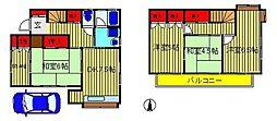 [一戸建] 千葉県柏市酒井根7丁目 の賃貸【/】の間取り
