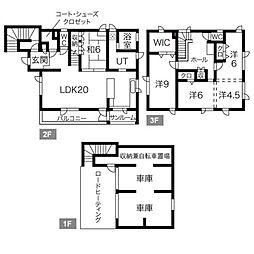 [一戸建] 北海道札幌市西区八軒八条東3丁目 の賃貸【/】の間取り