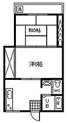 宮崎県宮崎市希望ケ丘4丁目の賃貸アパートの間取り