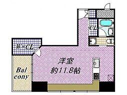 大阪府大阪市中央区内本町1丁目の賃貸マンションの間取り