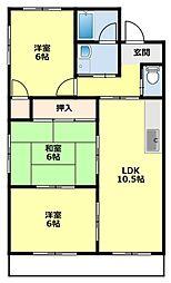 愛知県豊田市前山町3丁目の賃貸マンションの間取り
