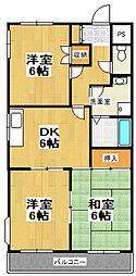 原第5マンション[101号室]の間取り