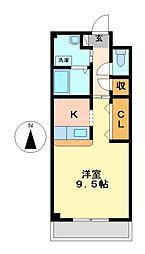 愛知県名古屋市西区稲生町6丁目の賃貸マンションの間取り