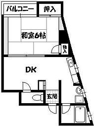 三甲大阪ビル[5階]の間取り