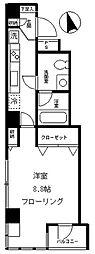 東急田園都市線 渋谷駅 徒歩9分の賃貸マンション 2階1Kの間取り