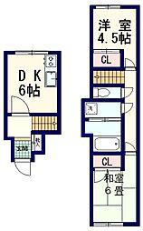 鍋横住宅[10階]の間取り