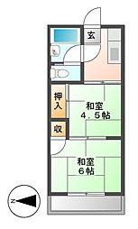 愛知県名古屋市千種区下方町6丁目の賃貸マンションの間取り