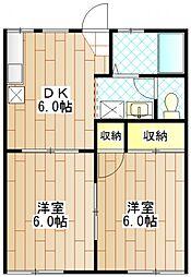 メゾンクレールエー[1階]の間取り
