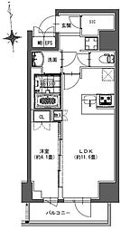 S-RESIDENCE東神田 3階1LDKの間取り