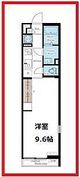 リブリ・グランディール西新井II 3階1Kの間取り