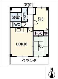 リビングコートヨコチ[4階]の間取り