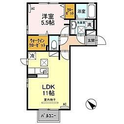 リッツ ハウス B棟[1階]の間取り