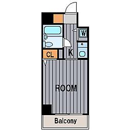 グリフィン横浜[8階]の間取り