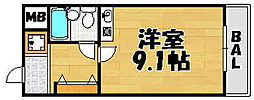 兵庫県川西市久代4丁目の賃貸マンションの間取り