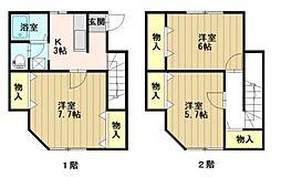 山王アパート[103号室]の間取り