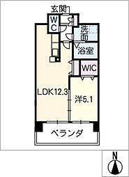 アンジュー VI[5階]の間取り