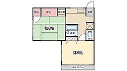 メゾン上本郷[2階]の間取り