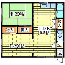 ドミ真栄パーク[3階]の間取り
