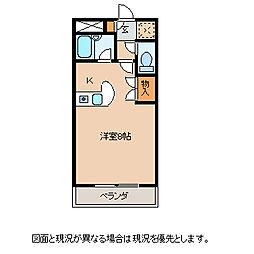 長野県岡谷市長地柴宮3丁目の賃貸アパートの間取り