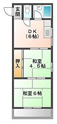 第5土居マンション[1階]の間取り